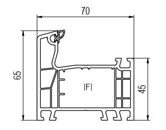 Profil din PVC sectiune 2