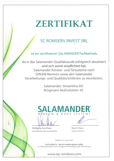 Romserv Invest - Euro Fereastra - Award of Excellence